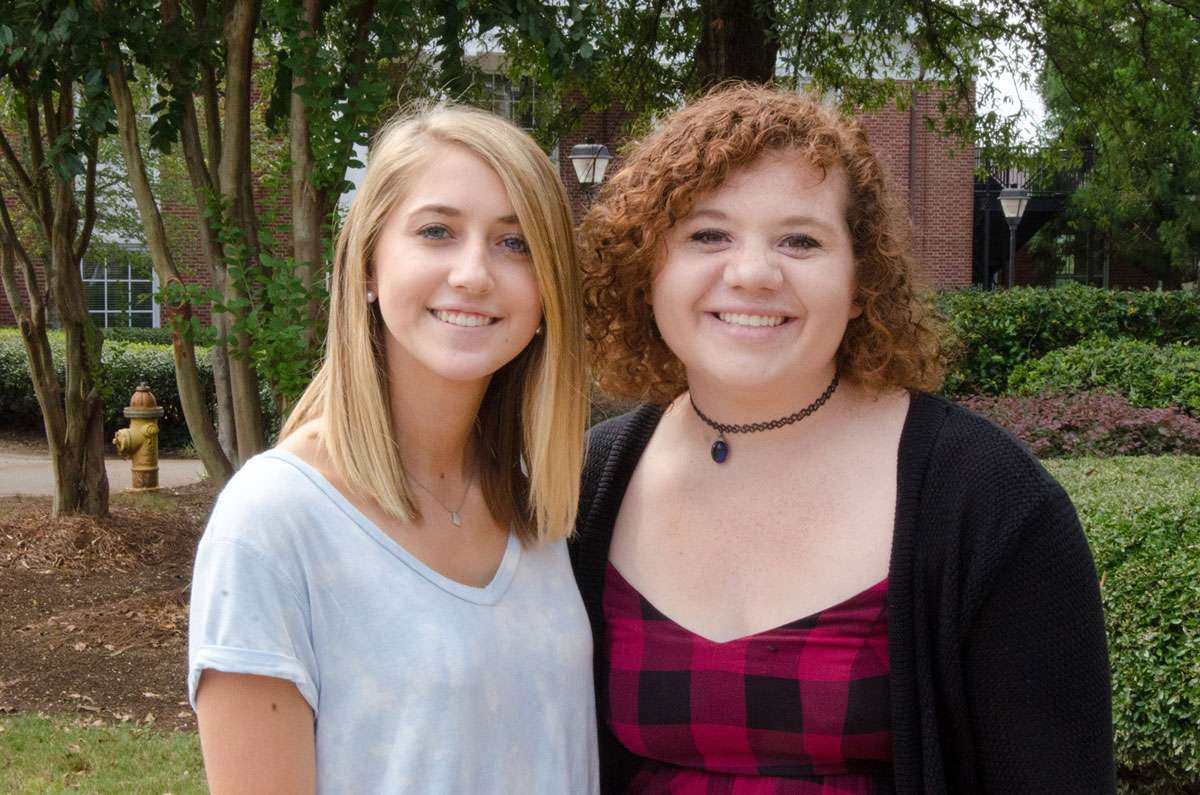 Shorter University freshmen Andrea Davis (left) and Meggan Brisbay are the recipients of the 2017 Little Black Dress Tea Women's Scholarships.