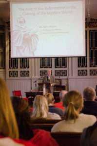 """Dr. Terry Morris speaks on """"The Role of the Reformation in the Coming of the Modern World."""""""
