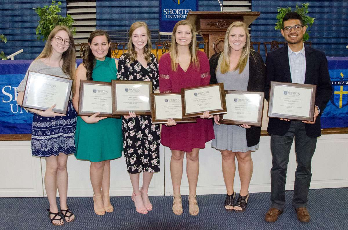 Some of the student winners honored on Awards Day