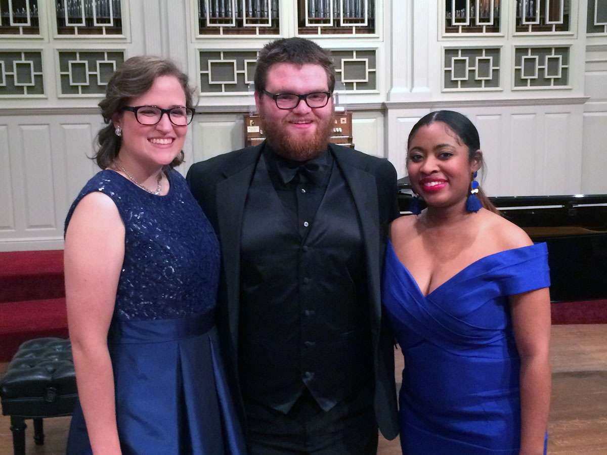 2018 Knight Competition Winners Becky Fowler, Austin Kibble, and Kayla Harriot