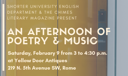 Faculty & Students to Be Featured in Feb. 9 Poetry Event