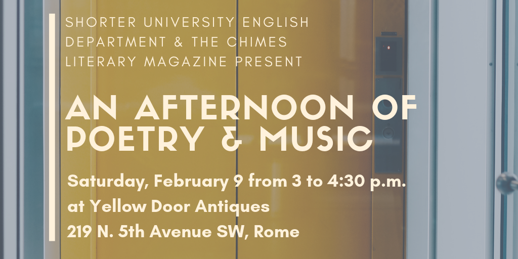 Afternoon of Poetry & Music Saturday, Feb. 9 at Yellow Door Antiques
