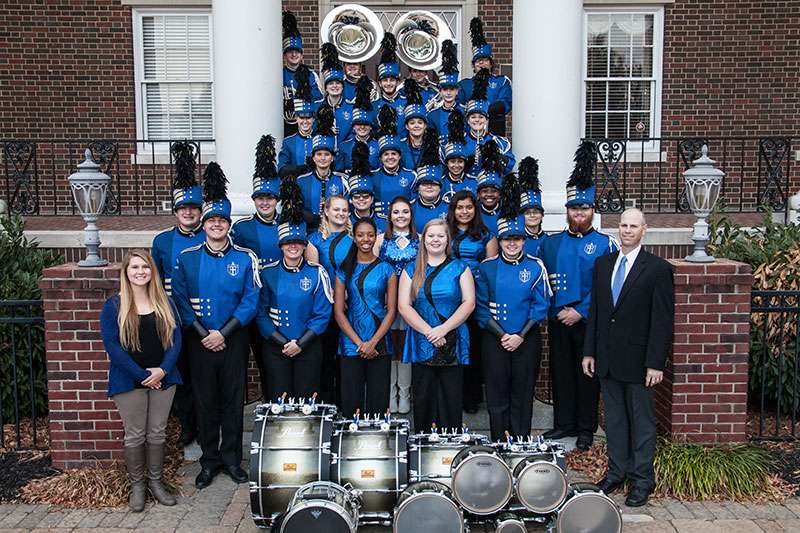 Group photo of band and color guard