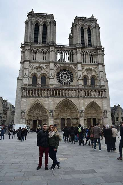 Bry Cuthbert and Nathan Gaydosik in Paris.