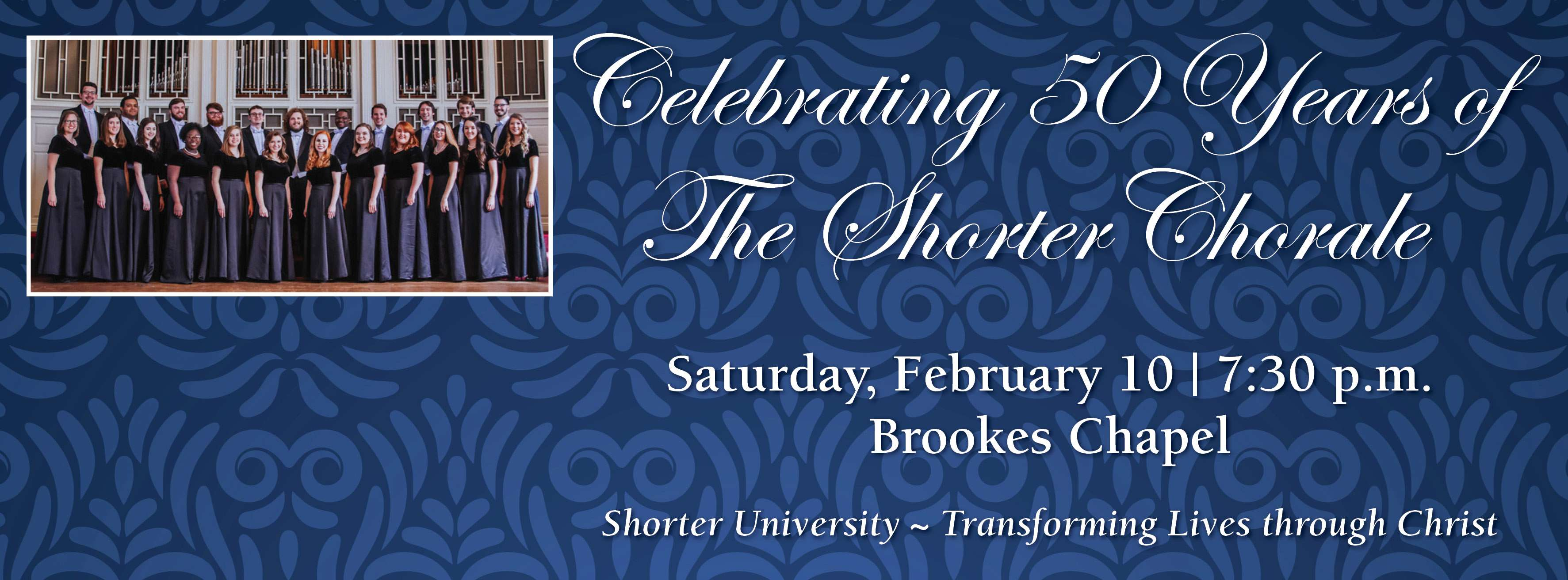 Feb. 10 Concert to Celebrate 50 Years of The Shorter Chorale