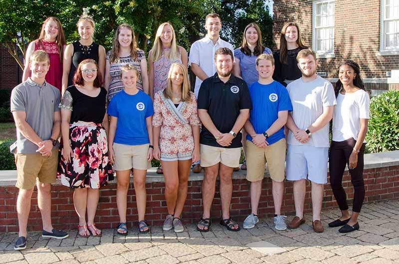 2017 Peer mentors group photo