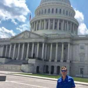 Aaron Harper at the U.S. Capitol