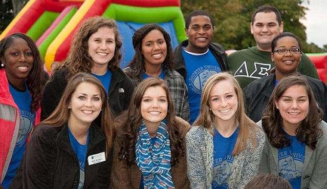 Group photo of students at Shorter Homecoming