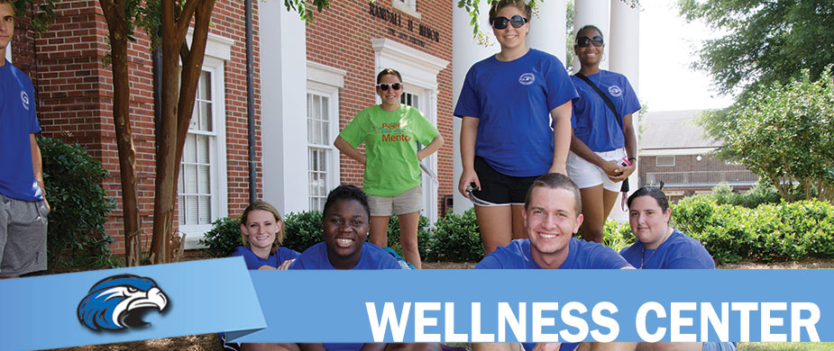 Shorter Wellness Center - happy smiling students in blue Shorter shirts