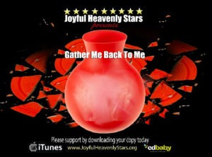 Cover of the Joyful Heavenly Stars CD / Black with shattered red vase