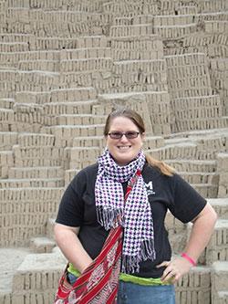 Lauren at Huaca Pucllana