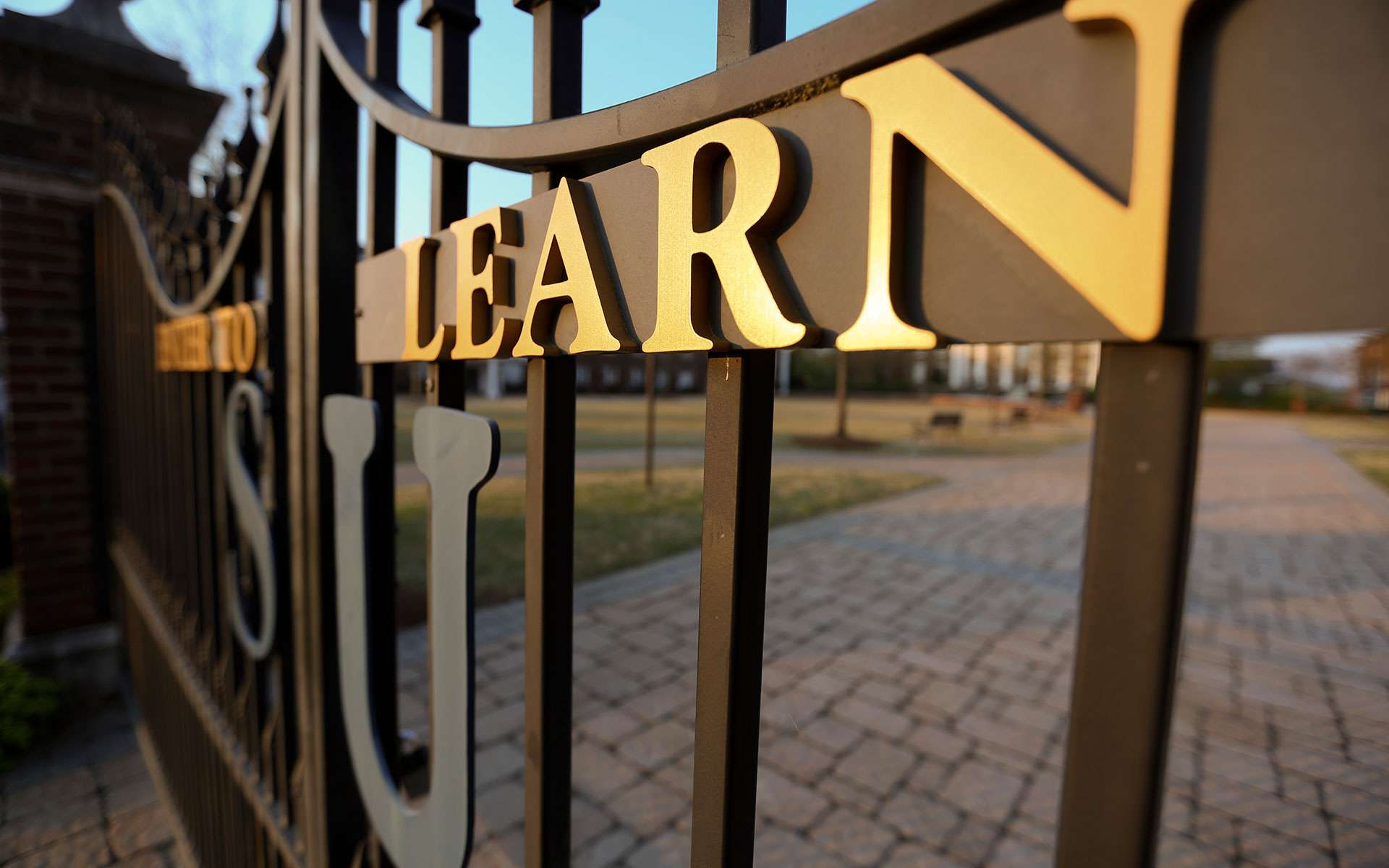 Front gates / enter to learn