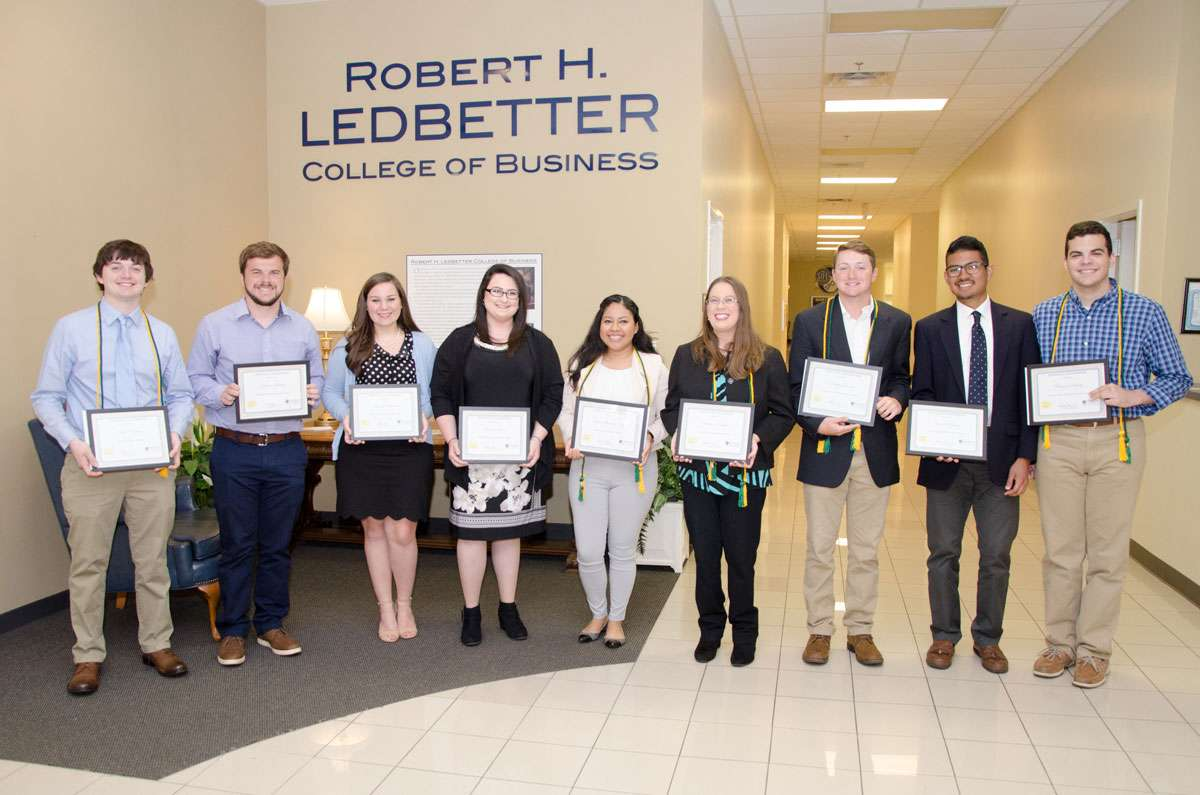 2018 Ledbetter College of Business Award Winners