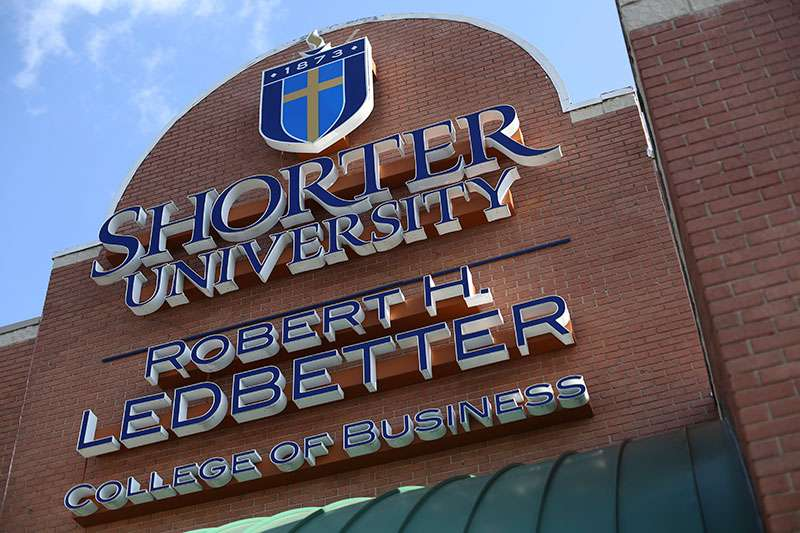 Ledbetter College of Business sign