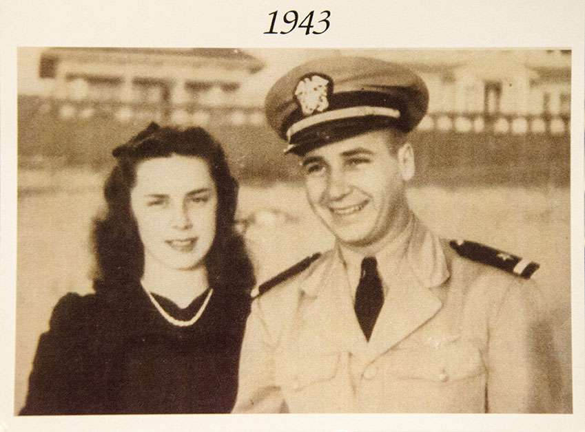 Nelle Brannon and her husband in 1943