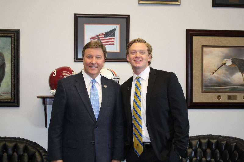 Congressman Mike Rogers with Aaron Harper