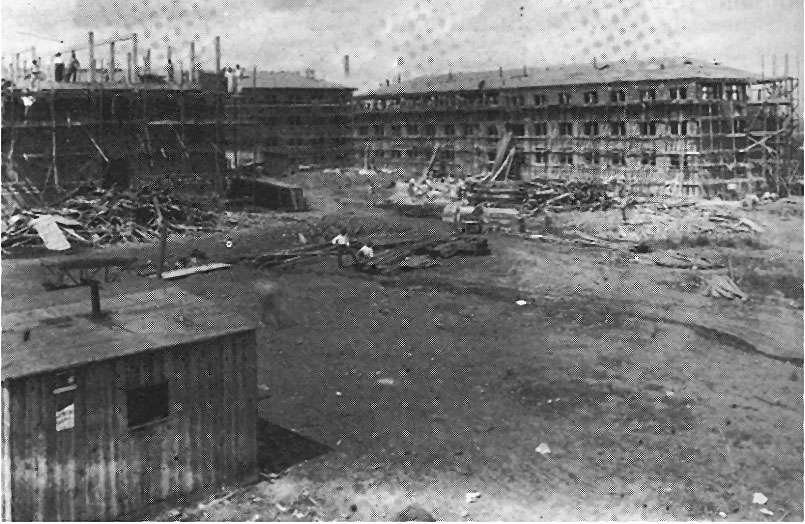 Construction of new Shorter location in 1910