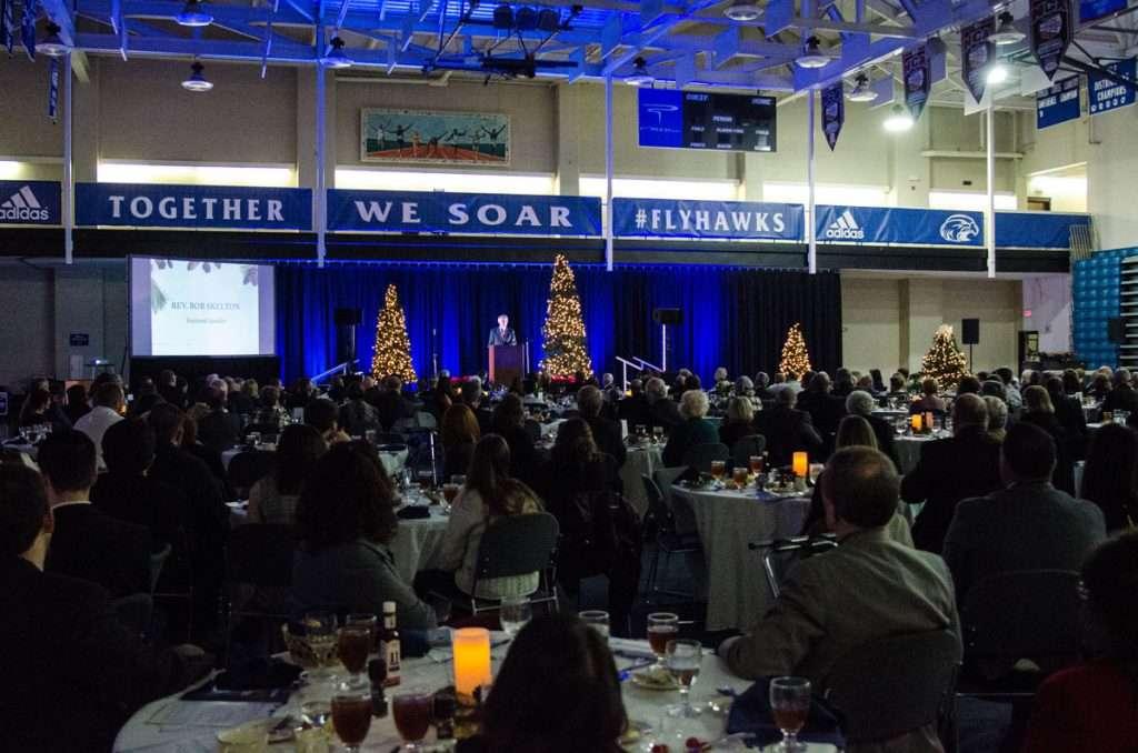 Rev. Bob Skelton speaks at the Christmas on the Hill President's Gala