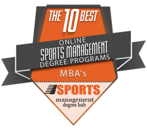 Top 10 Sport Management Program Badge