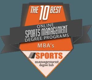 Top 10 Sport Management Program Badge