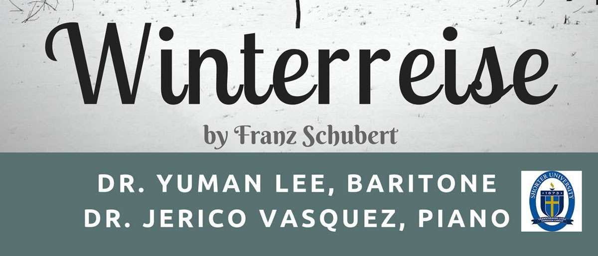 A presentation of Schubert's Winterreise by Baritone Yuman Lee and Pianist Jerico Vasquez